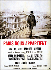 The poster art copyright is believed to belong to the distributor of the film, the publisher of the film or the graphic artist.Sourced from https://en.wikipedia.org/wiki/Paris_Belongs_to_Us
